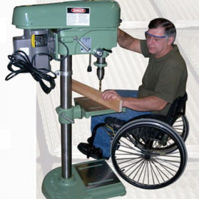 americans with disabilities act wheelchair drill press