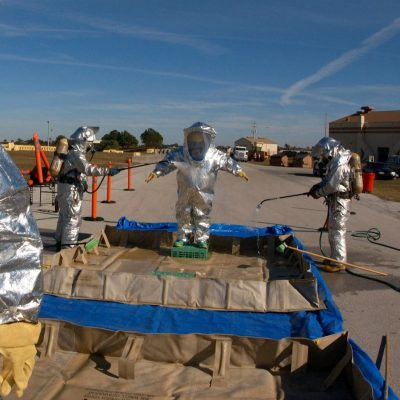 hazardous waste handling suits
