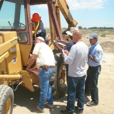 heavy equipment skiploader