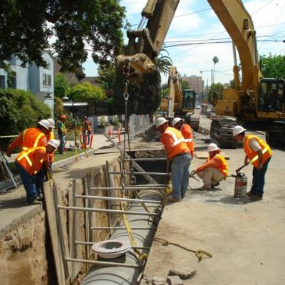 trenching and shoring job