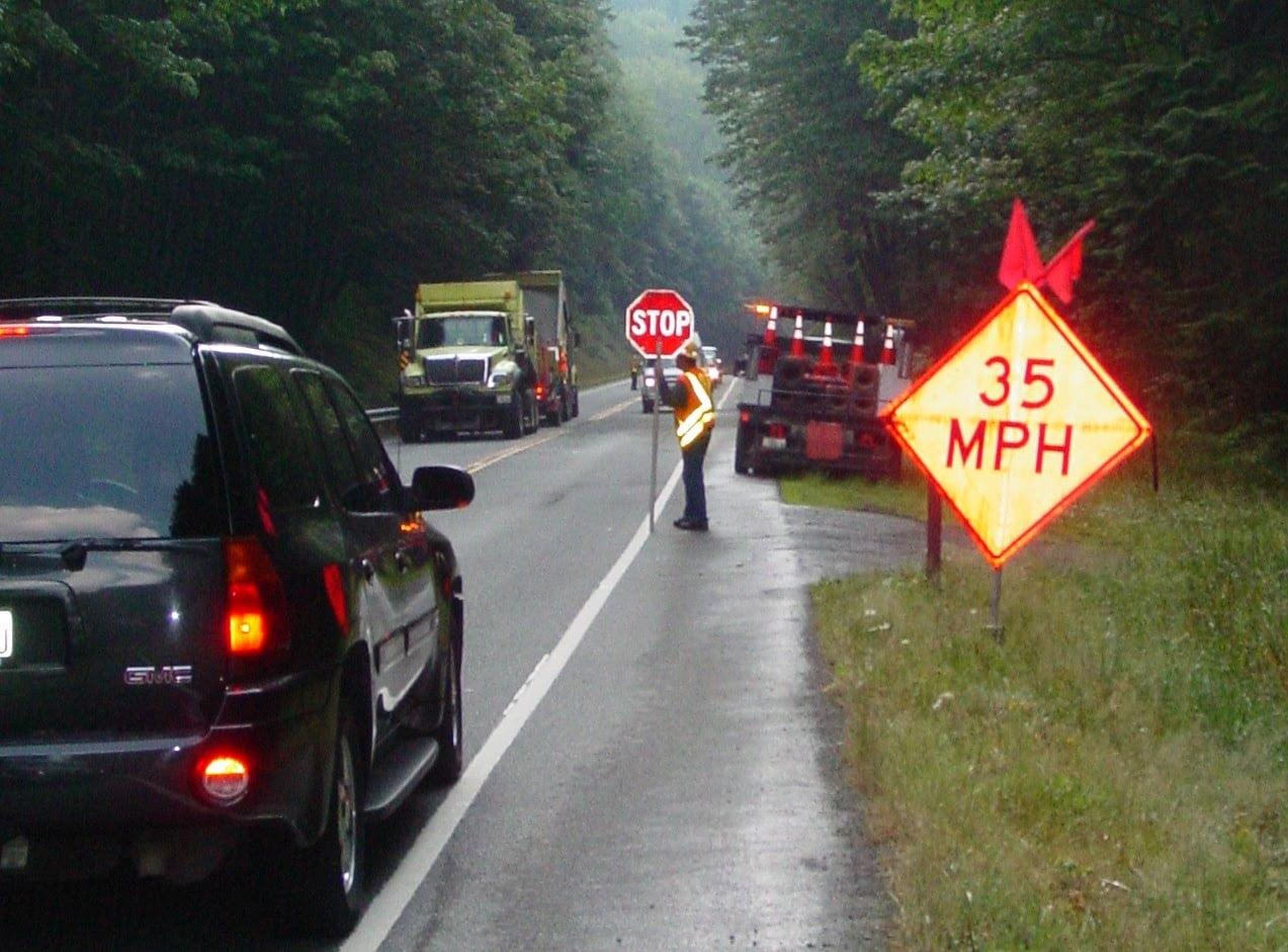 Traffic Control Flagger Barricades Warning Signs Class
